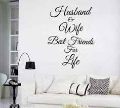 Husband And Wife Best Friends For Life Vinyl Wall Decal Select Color Ebay