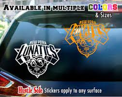 New York Knicks Parody Nba Logo Sticker Car Window Laptop Or Etsy