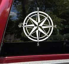 Compass Rose Vinyl Decal V4 Travel Wander Adventure Die Cut Sticker
