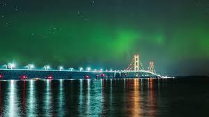 northern lights over michigan s