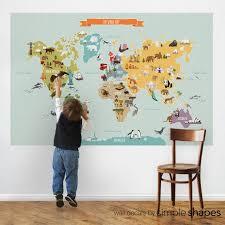 World Map Peel And Stick Poster Sticker Kids World Map Maps For Kids World Map Poster