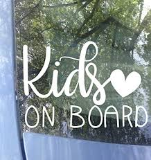 Amazon Com Original Kids On Board Car Decal Safety Bumper Sticker 6 X4 Color Options Handmade