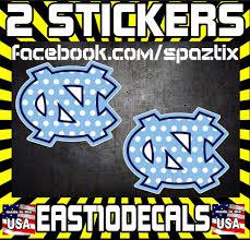 Pair Of Polka Dot Unc Vinyl Car Sticker Decal North Carolina Tarheels Girly Ebay Vinyl Car Stickers Car Stickers North Carolina Tar Heels
