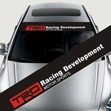 Trd Front Windshield Banner Decal Car Sticker For Toyota