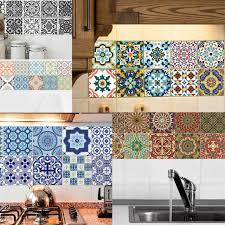 20pcs Waterproof Mosaic Tile Sticker Wall Decal Home Decor 2 15x15cm For Sale Online Ebay