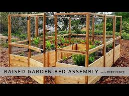Garden In A Box With Deer Fence 8x12 Assembly Youtube