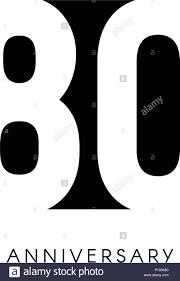 Ochenta Aniversario Logo Minimalista 80 Anos 80 Jubileo