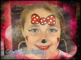minnie mouse face painting at