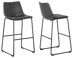 vintage gray faux leather bar stools