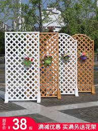 Usd 14 29 Anti Corrosion Wood Fence Outdoor Garden Fence Balcony Decorated Mesh Flower Rack Outdoor White Wood Indoor Small Fence Wholesale From China Online Shopping Buy Asian Products Online From The