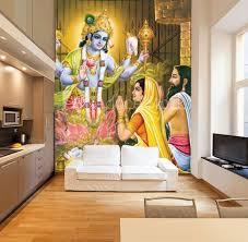Indian God Bhagwan Vishnu Wall Mural Wallpaper Murals Wallsheaven Mkb