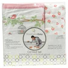 breathable baby cot bed set english