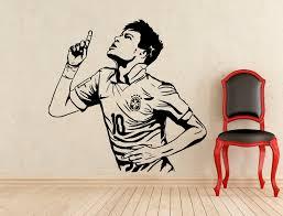 Neymar Barcelona Wall Decal Football Player Boys Bedroom Stickers Brazil Interior Removable Drop Shipping Servise Art Diy Syy419 Wall Decals Boy Bedroomart Diy Aliexpress