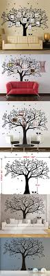 Anber Family Tree Wall Decal Butterflies And Birds Wall Decal Vinyl Wall Art Photo Frame Tree Stickers Living Room Home Decor Wall Sticker Vinyl Wall Decals Living Room Wall Decals Living