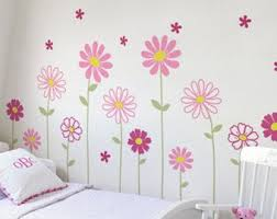 Flower Wall Decals Etsy
