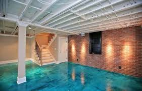interior with floor painting idea the