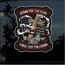 Stand For The Flag Kneel For The Cross Full Color Decal Sticker Custom Sticker Shop