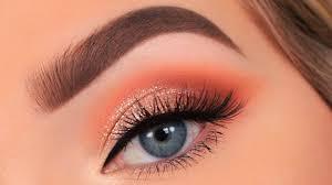full glam peach makeup tutorial you