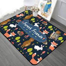 Cartoon Forest Friends Animal Children Carpet Kids Area Rugs For Children S Room Baby Room Play Crawling Floor Mat Christmas Rug Carpet Aliexpress