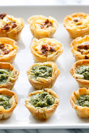 mini quiche bites with phyllo crust