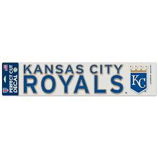 Kansas City Royals Wincraft Royal 4 X 17 Die Cut Car Decal