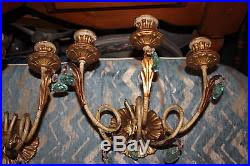 wall sconce candle holder leave