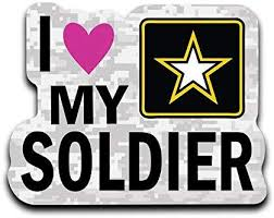 Amazon Com More Shiz I Love My Soldier Army Vinyl Decal Sticker Car Truck Van Suv Window Wall Cup Laptop One 6 Inch Decal Mks0650 Automotive