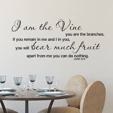 John 15v5 Vinyl Wall Decal 3 I Am The Vine You Are The Branches