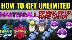 How to get unlimited Master Ball, PP MAX, PP up and Rare candy in ...