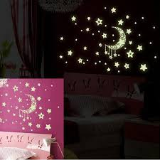 Moon Star Paste Ceiling Fluorescent Glow Decal Dark Luminous Art Home Stickers Vinyl Wall Graphic Vinyl Wall Graphics From Highqualit07 20 21 Dhgate Com