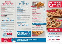 dominos pizza menu dels