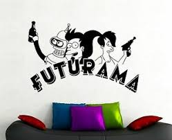 Futurama Wall Sticker Bender Leela Fry Vinyl Decal Movie Art Bedroom Decor 2qsz Ebay