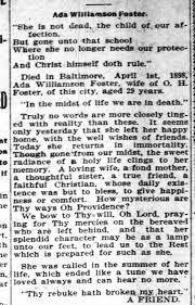 Obit Ada Virginia Williamson Foster..1898 - Newspapers.com