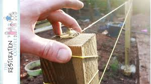 Fence Posts Are In String Line Crazy Youtube
