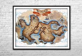Neverland Map Peter Pan Nursery Canvas Print Peter Pan Wall Etsy