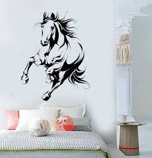 Vinyl Wall Decal Beautiful Horse Animal Room Interior Stickers Murals Unique Gift Ig4834 Products Horse Wall Stickers Horse Wall Decals Vinyl Wall Decals