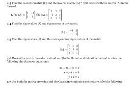 solved 4 3 find the co factor matrix