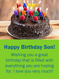 birthday cake cards for son birthday