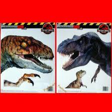 2 Huge Dinosaur Decals T Rex Veloci Raptor Jurassic Park Stickers Clings 13x15