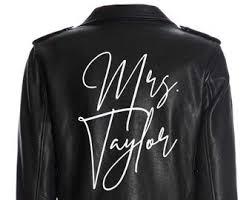 Bride Leather Jacket Etsy