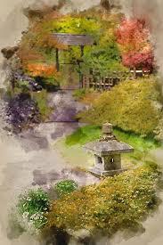 japanese zen garden landscape
