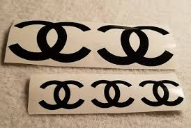 Chanel Decals Logos Stickers For Decorations Balloons Chanel Baby Shower Logo Sticker Balloons