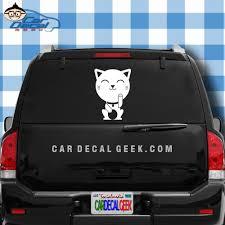 Super Cute Adorable Kitty Cat Car Decal Sticker