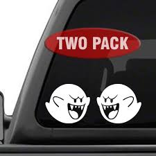 Amazon Com Signage Cafe Boo Super Mario Brothers Two Pack Vinyl Decals For Car Truck Jdm Laptop Automotive