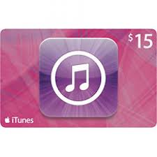 apple itunes gift card 15 in