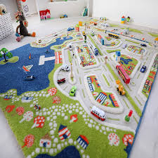 Amazon Com Ivi Mini City Thick 3d Kids Play Mat Rug 71 L X 53 W Non Toxic Stain Resistant Educational Montessori Activity Toys For Kids Kitchen Dining