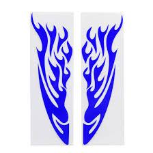 2pcs Blue Flame Design Car Motorcycle Exterior Reflective Sticker Decor 24 X 6cm Walmart Com Walmart Com
