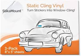 Amazon Com Stikamount Static Cling Vinyl Windscreen Sticker Applicator Turns Stickers Removable Repositionable And Reusable From Car To Car Window Clings Pack Of 3 Sheets 8 Inch X 5 Inch Per Sheet Automotive