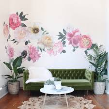 Pastel Garden Flowers Wall Decals Oversized Floral Decals Project Nursery