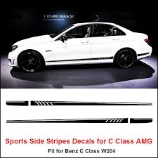 Product Side Stripes Decals Sticker For Mercedes Benz W204 C Class Amg